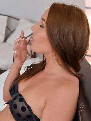 Angel Blade rubs her wet pussy